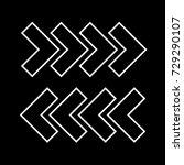 traffic arrows white icon . | Shutterstock .eps vector #729290107