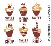 bakery  pastry  confectionery ... | Shutterstock .eps vector #729290167