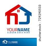 initial n   j real estate logo... | Shutterstock .eps vector #729290533