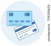 credit card icon. simple flat...