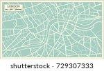 london map in retro style.... | Shutterstock .eps vector #729307333