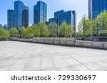 empty pavement and modern... | Shutterstock . vector #729330697