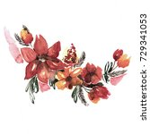 cute watercolor hand painted...   Shutterstock . vector #729341053