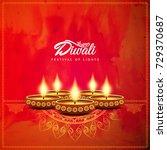 abstract beautiful happy diwali ... | Shutterstock .eps vector #729370687