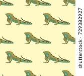 reptile chameleon amphibian... | Shutterstock .eps vector #729382927