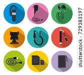 illustration of icon set mobile ... | Shutterstock .eps vector #729383197