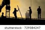 construction worker working on... | Shutterstock . vector #729384247