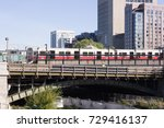 Small photo of Inbound from Alewife station, a red line train is stopped on the Longfellow Bridge at the Charles/MGH station, October 4, 2017