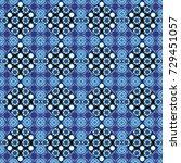 vector checkered fabric texture ... | Shutterstock .eps vector #729451057