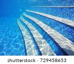 Underwater Scene Of Pool Stair...