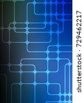 dark blue natural abstract...   Shutterstock . vector #729462217