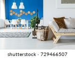 pillows in basket in...   Shutterstock . vector #729466507