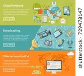 telecommunication horizontal...   Shutterstock . vector #729478147