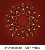 stock photo of diwali greeting... | Shutterstock . vector #729479803