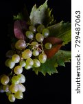 White Grapes On The Black...