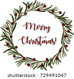merry christmas. festive... | Shutterstock .eps vector #729491047