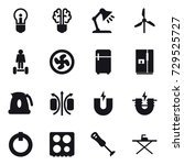 16 vector icon set   bulb  bulb ... | Shutterstock .eps vector #729525727