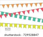 hand drawn colorful doodle... | Shutterstock .eps vector #729528847
