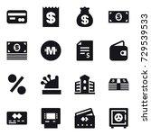 16 vector icon set   card ...   Shutterstock .eps vector #729539533