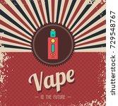 retro vaporizer electric... | Shutterstock .eps vector #729548767