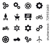 16 vector icon set   gear ... | Shutterstock .eps vector #729551683