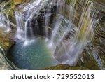 A Circular Waterfall  Misty...
