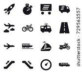 16 vector icon set   rocket ... | Shutterstock .eps vector #729563557