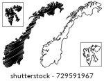 norway map vector illustration  ...   Shutterstock .eps vector #729591967