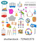 pet appliance icon set flat... | Shutterstock .eps vector #729601573