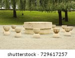 table of silence in targu jiu ... | Shutterstock . vector #729617257