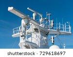 navigation and radar equipment... | Shutterstock . vector #729618697