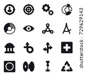 16 vector icon set   target...
