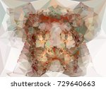 abstract multicolor mosaic... | Shutterstock .eps vector #729640663