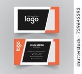 simple corporate vector... | Shutterstock .eps vector #729643393