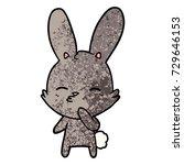 curious bunny cartoon   Shutterstock .eps vector #729646153