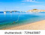 view of beautiful beach with... | Shutterstock . vector #729665887