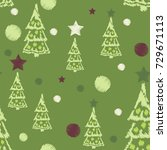 embroidery seamless pattern... | Shutterstock .eps vector #729671113