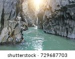 Gorge Of Alcantara. The Island...