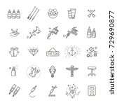 tattoo salon web icons for user ... | Shutterstock .eps vector #729690877