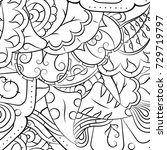seamless mehndi vector pattern. ...   Shutterstock .eps vector #729719797