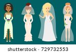 wedding brides characters... | Shutterstock .eps vector #729732553