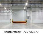roller shutter door and...   Shutterstock . vector #729732877