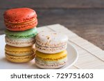 colorful french or italian... | Shutterstock . vector #729751603