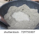 mixing of sand  water  and... | Shutterstock . vector #729753307