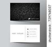 modern business card template... | Shutterstock .eps vector #729768037