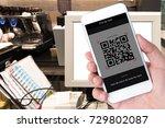 qr code payment   online... | Shutterstock . vector #729802087