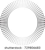 halftone dots in circle form.... | Shutterstock .eps vector #729806683