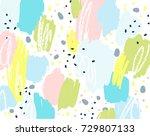 brush  marker  pencil stroke... | Shutterstock .eps vector #729807133