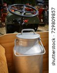 Small photo of aluminum canister in the tractor trailer. large capacity for liquid transport