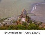 small houses of mont saint... | Shutterstock . vector #729812647
